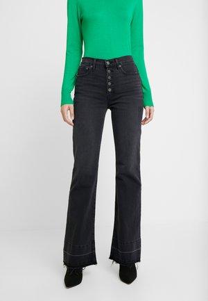EXP COMET - Flared jeans - true black