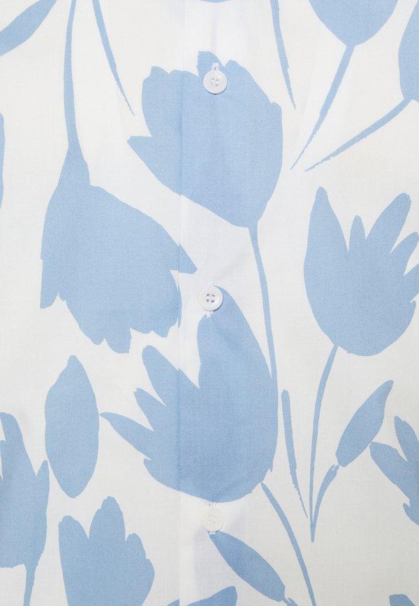 sandro TULIPE - Koszula - bleu ciel/blanc/jasnoniebieski Odzież Męska YYIH