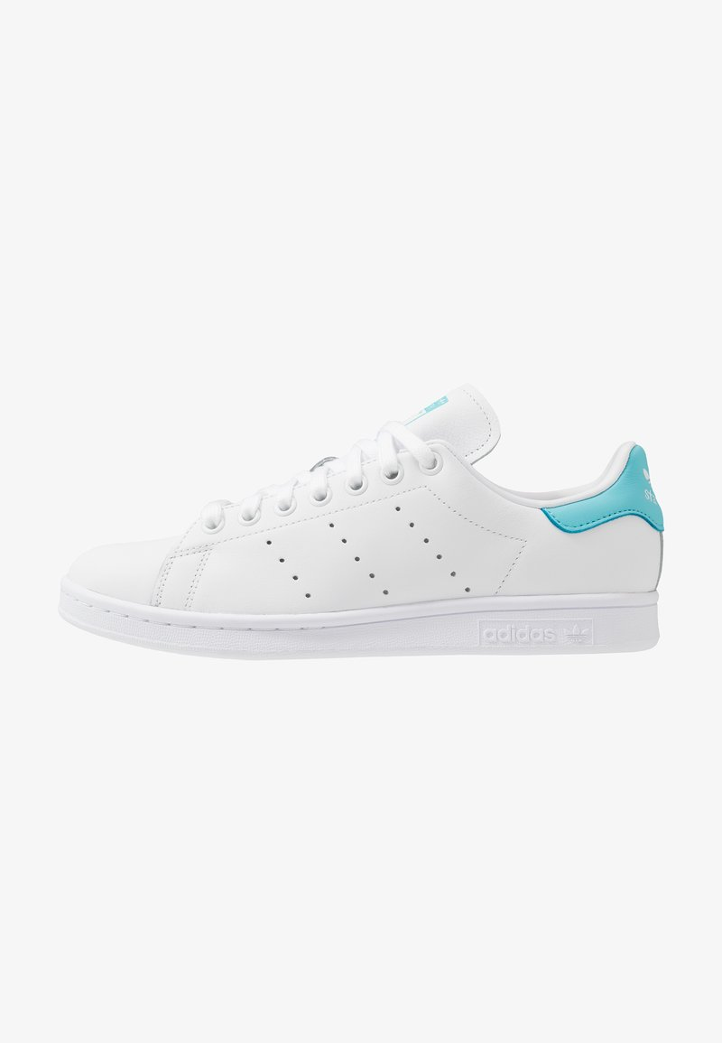 adidas Originals - STAN SMITH - Matalavartiset tennarit - footwear white/blue glow