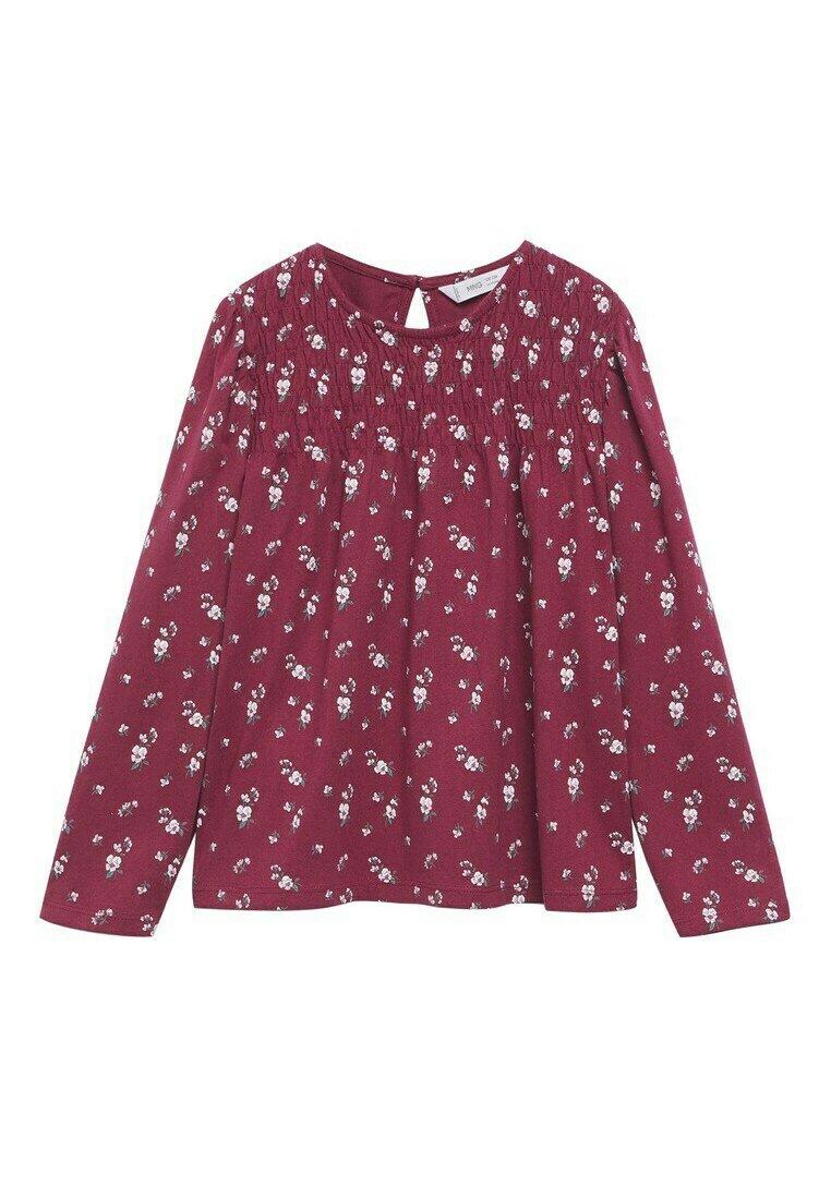 Kinder BEDRUKT  MET LANGE MOUWEN - Bluse