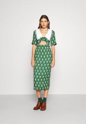 CLEMENCE CUT OUT DRESS - Juhlamekko - green/ivory