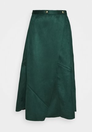 PIECED WRAP SKIRT - Wrap skirt - jade