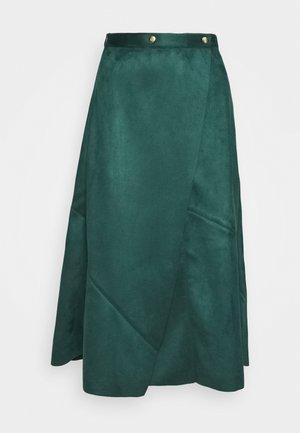 PIECED WRAP SKIRT - A-line skirt - jade