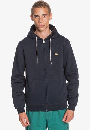 MIT SHERPA-FUTTER UND - Zip-up hoodie - navy blazer