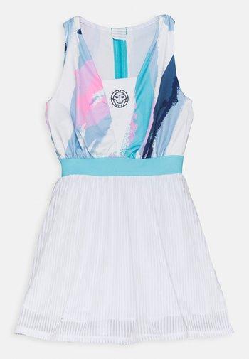 NIA TECH DRESS - Sportovní šaty - white/aqua