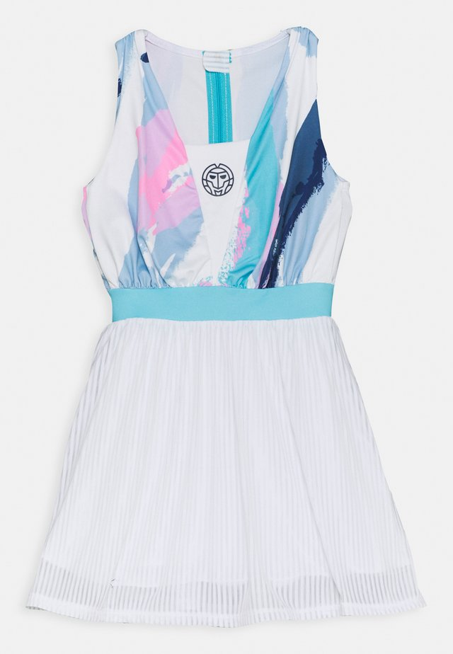 NIA TECH DRESS - Sportklänning - white/aqua