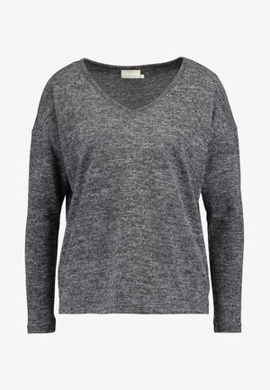 KASIANE V NECK  - Jumper - dark grey melange