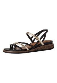 Tamaris - Wedge sandals - black/gold - 1