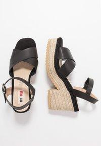 mtng - CAMBA - High heeled sandals - black - 3