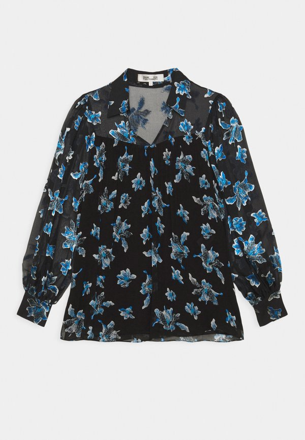 Diane von Furstenberg HEIDI - Bluzka - orchid rain/czarny OMVA