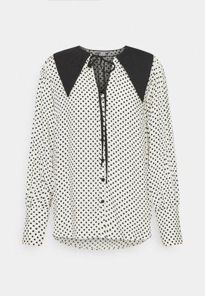 SPOT COLLAR - Blouse - white