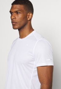 adidas Performance - RESPONSE AEROREADY RUNNING SHORT SLEEVE TEE - Triko s potiskem - white - 4