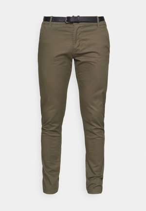 MENS STRETCH WITH BELT - Chino - army
