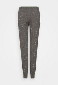 Lindex - NIGHT TROUSERS TEA - Pyjama bottoms - dark grey melange - 1