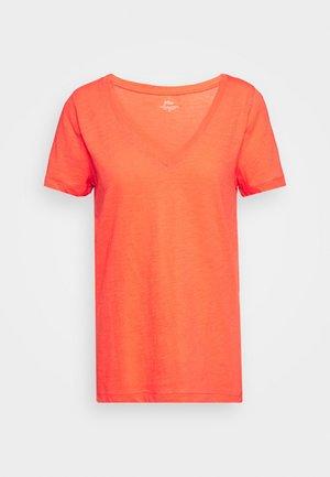 VINTAGE V NECK TEE - Basic T-shirt - brilliant sunset