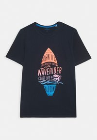 TOM TAILOR - TEE WITH COLOR PRINT - T-shirts print - sky captain blue - 3