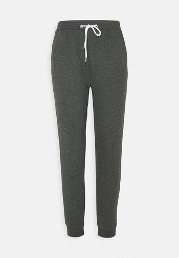 Regular fit jogger with contrast - Tracksuit bottoms - mottled dark grey
