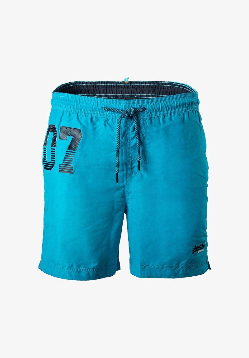 Superdry - WATERPOLO - Swimming shorts - hellblau
