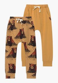 Walkiddy - 2 PACK - Tracksuit bottoms - yellow - 0