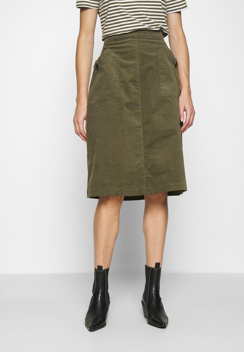 Saint Tropez - SKIRT - Áčková sukně - army green