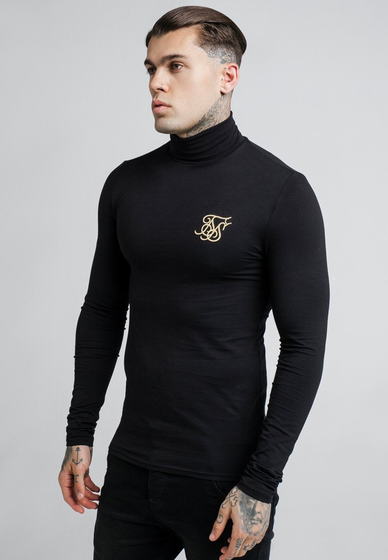 SIKSILK - ROLL NECK LONG SLEEVE - Camiseta de manga larga - black