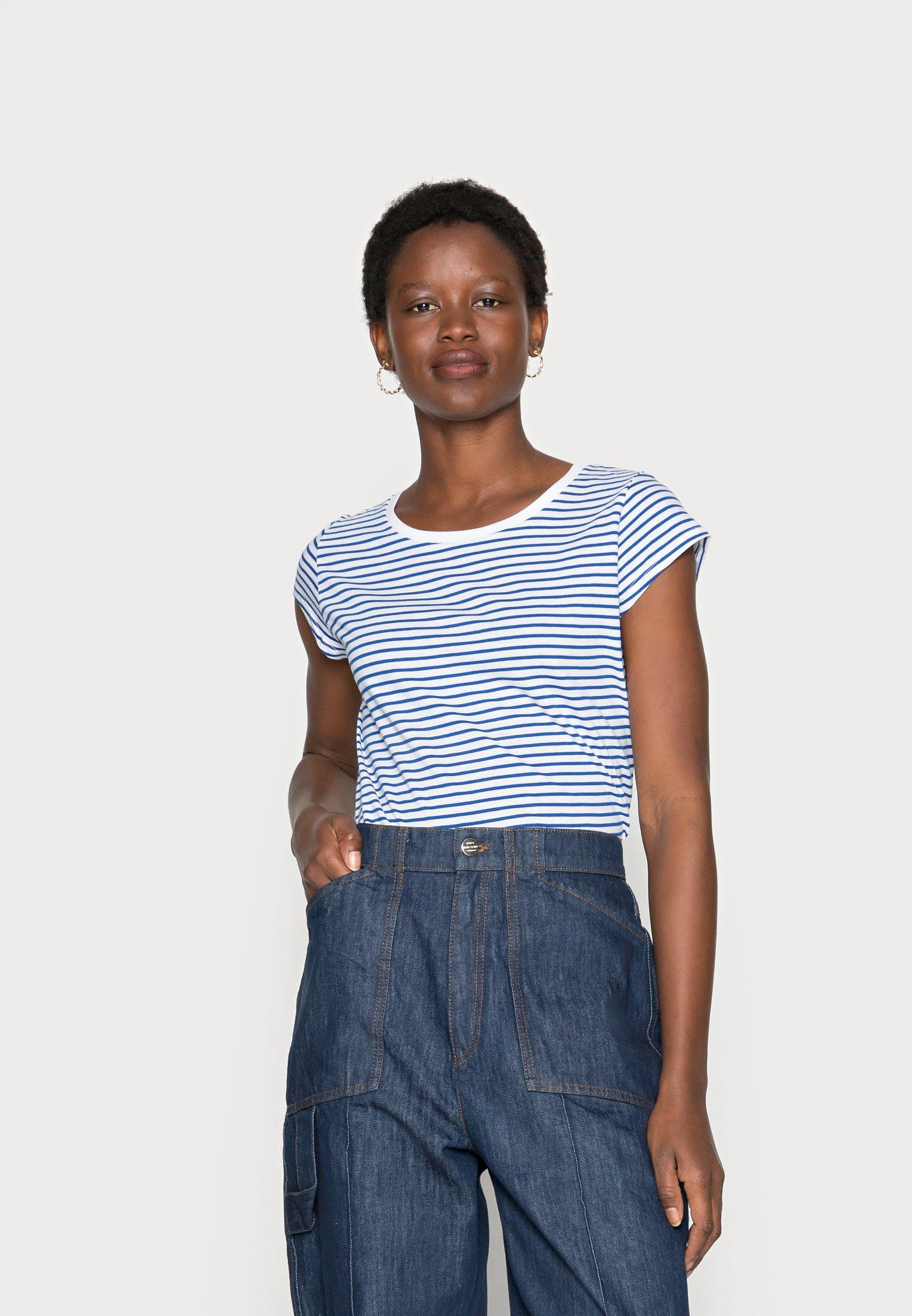 Damen ORGANIC FAVORITE STRIPE TEASY - T-Shirt print