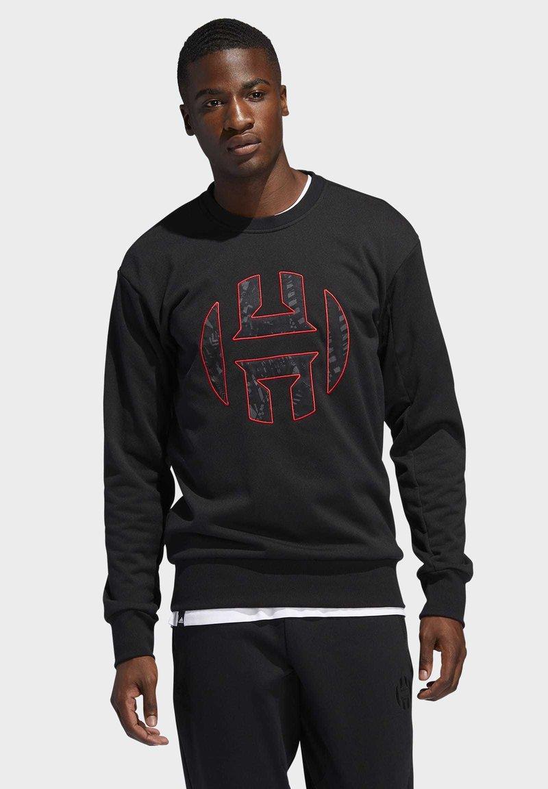 adidas Performance - HARDEN FLEECE CREW SWEATSHIRT - Sweater - black