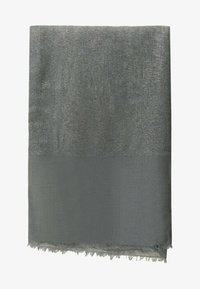 Massimo Dutti - MIT LAMÉFÄDEN - Scarf - dark grey - 0