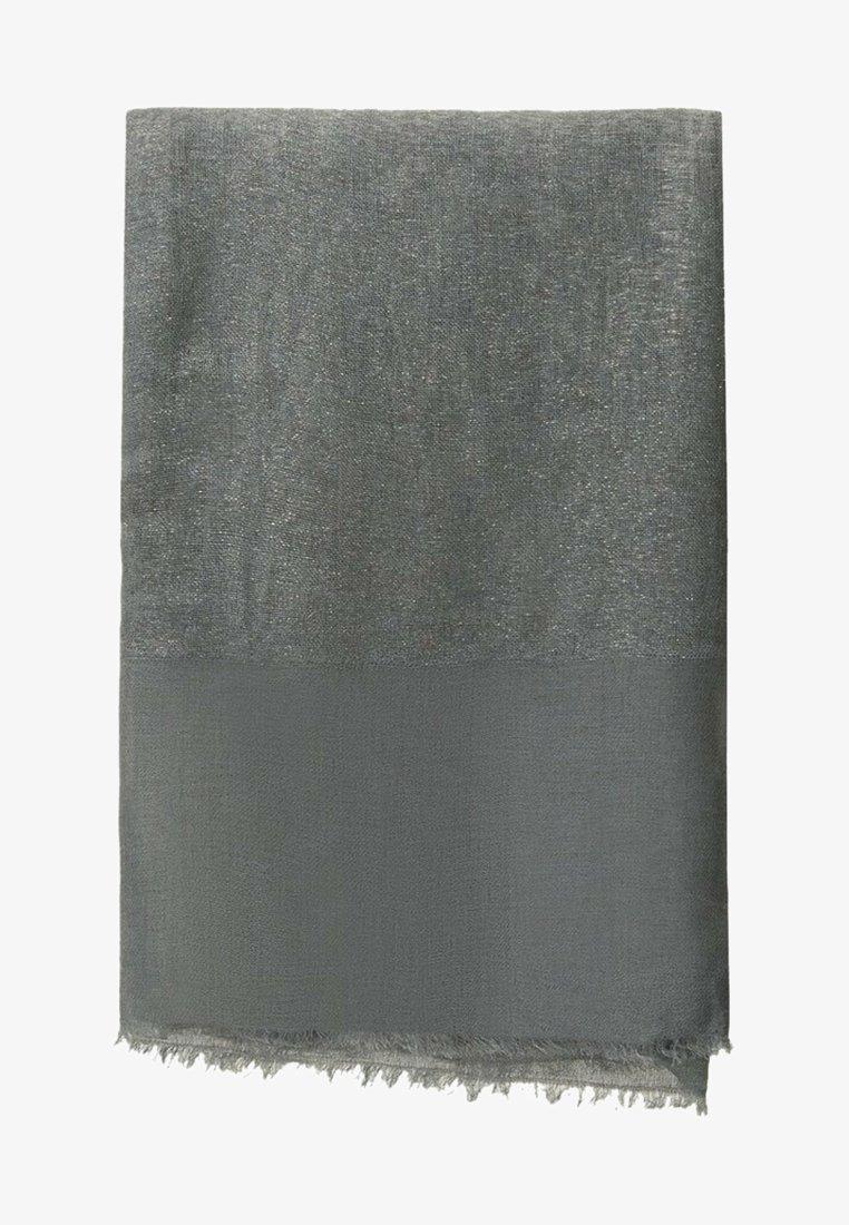 Massimo Dutti - MIT LAMÉFÄDEN - Scarf - dark grey