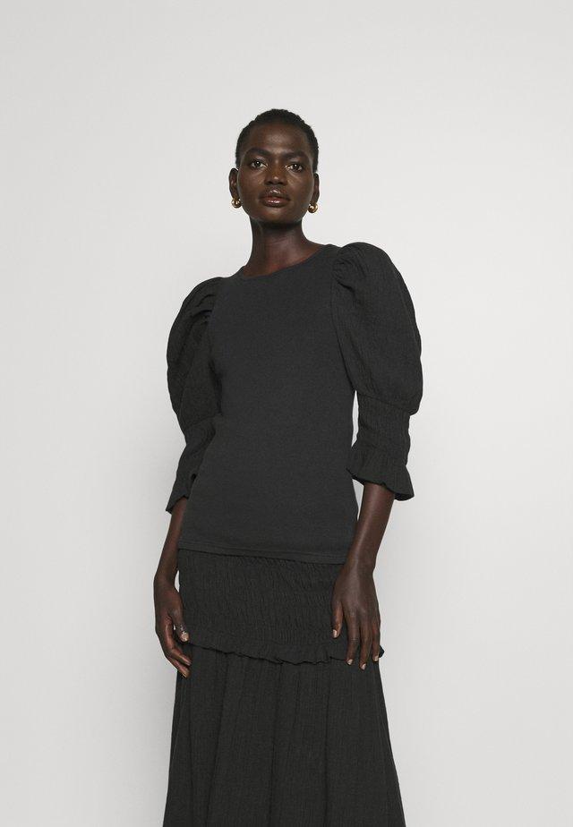 DECONDON - T-shirt z nadrukiem - black