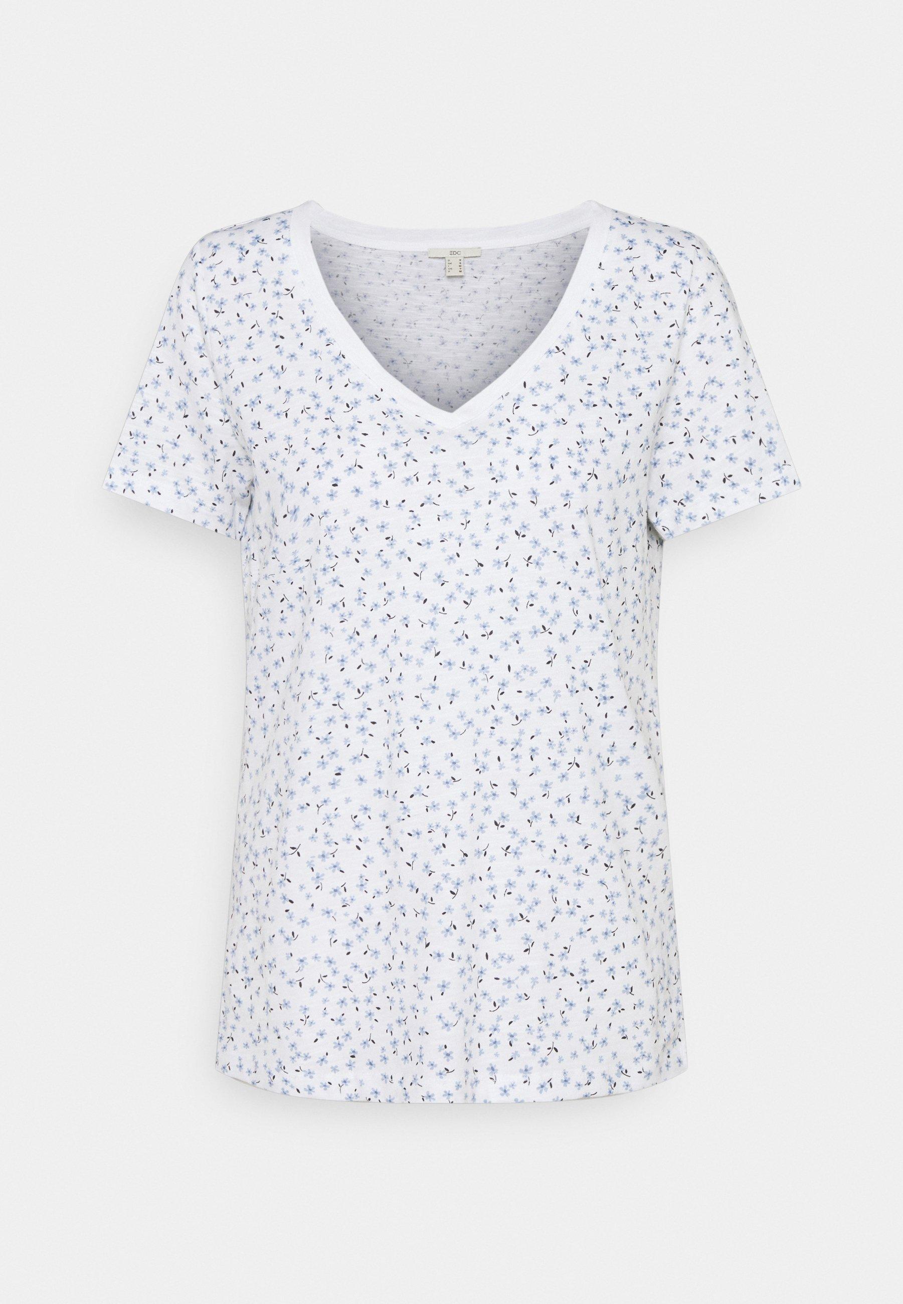 Damen V NECK TEE - T-Shirt print