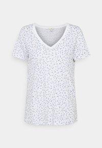 edc by Esprit - V NECK TEE - Print T-shirt - white - 0