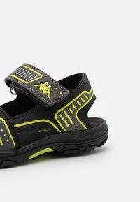 Kappa - UNISEX - Walking sandals - black/lime - 5