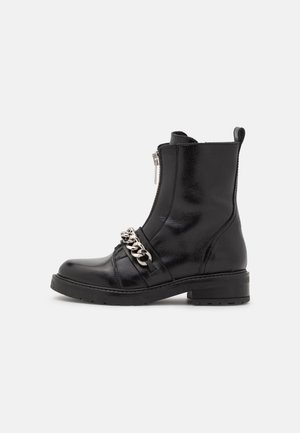 FRANCA - Classic ankle boots - black/silver