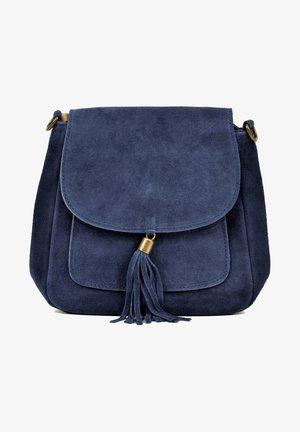 WITH TOP ZIP CLOSURE - Across body bag - blue