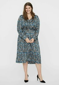 Vero Moda Curve - VMLULU CALF DRESS - Day dress - black - 0