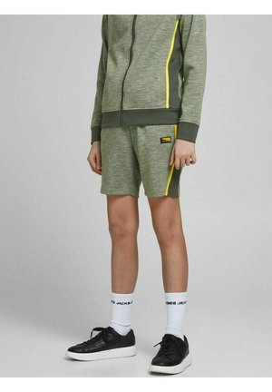 Tracksuit bottoms - oil green