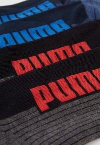 Puma - CUSHIONED QUARTER 4 PACK - Calcetines de deporte - navy/grey/strong blue - 2