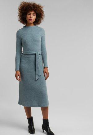 Gebreide jurk - grey blue