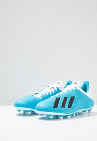 adidas Performance - X 19.4 FXG - Moulded stud football boots - brigth cyan/core black/shock pink - 2