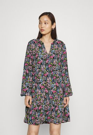 JDYLION LAYER DRESS - Day dress - black/multicolour