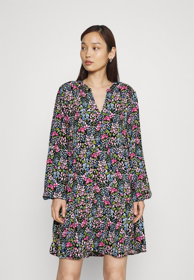 JDYLION LAYER DRESS - Vapaa-ajan mekko - black/multicolour