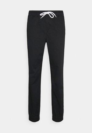 ELASTIC CUFF PANTS - Träningsbyxor - black