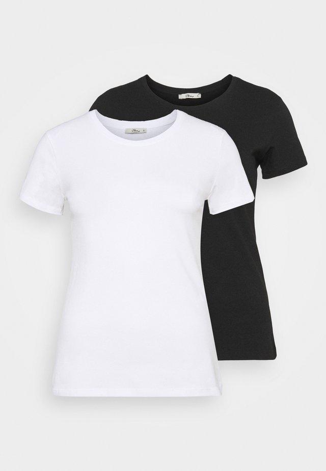 BATIDA 2 PACK - Jednoduché triko - white/black