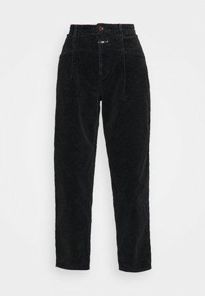 PEARL - Spodnie materiałowe - black