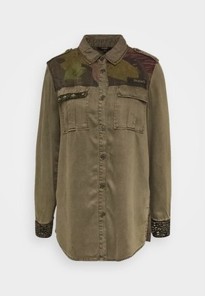 CAMOFLOW - Button-down blouse - caqui