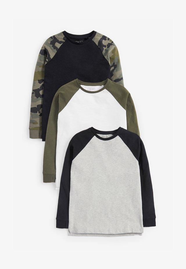 3 PACK - Maglietta a manica lunga - black
