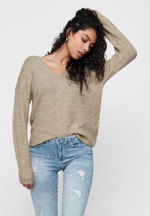 JDYDREA V NECK - Pullover - beige