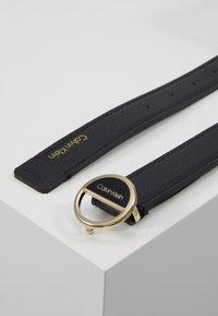 Calvin Klein - HOOP BELT - Pásek - black - 2