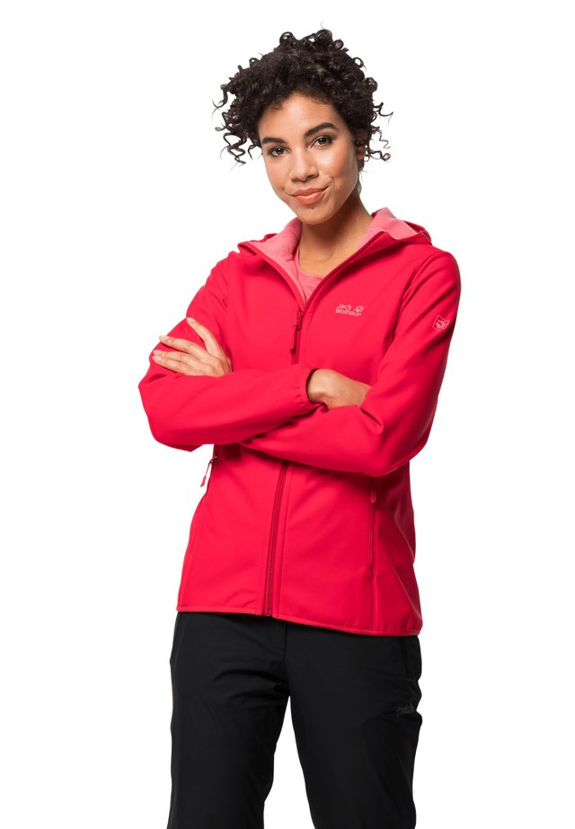 NORTHERN POINT - Soft shell jacket - clear red